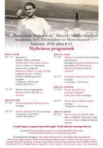 Nyilvános programok 2018